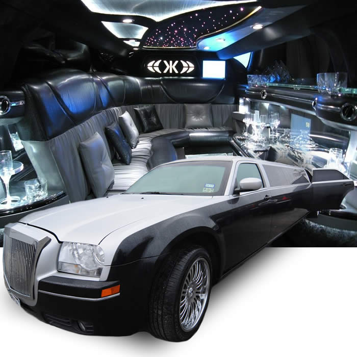 black-silver-chrysler-limo